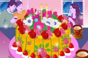 Prepare The Cake With Flowers