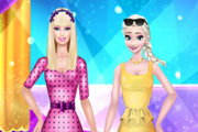 Elsa ve Barbie Defilede